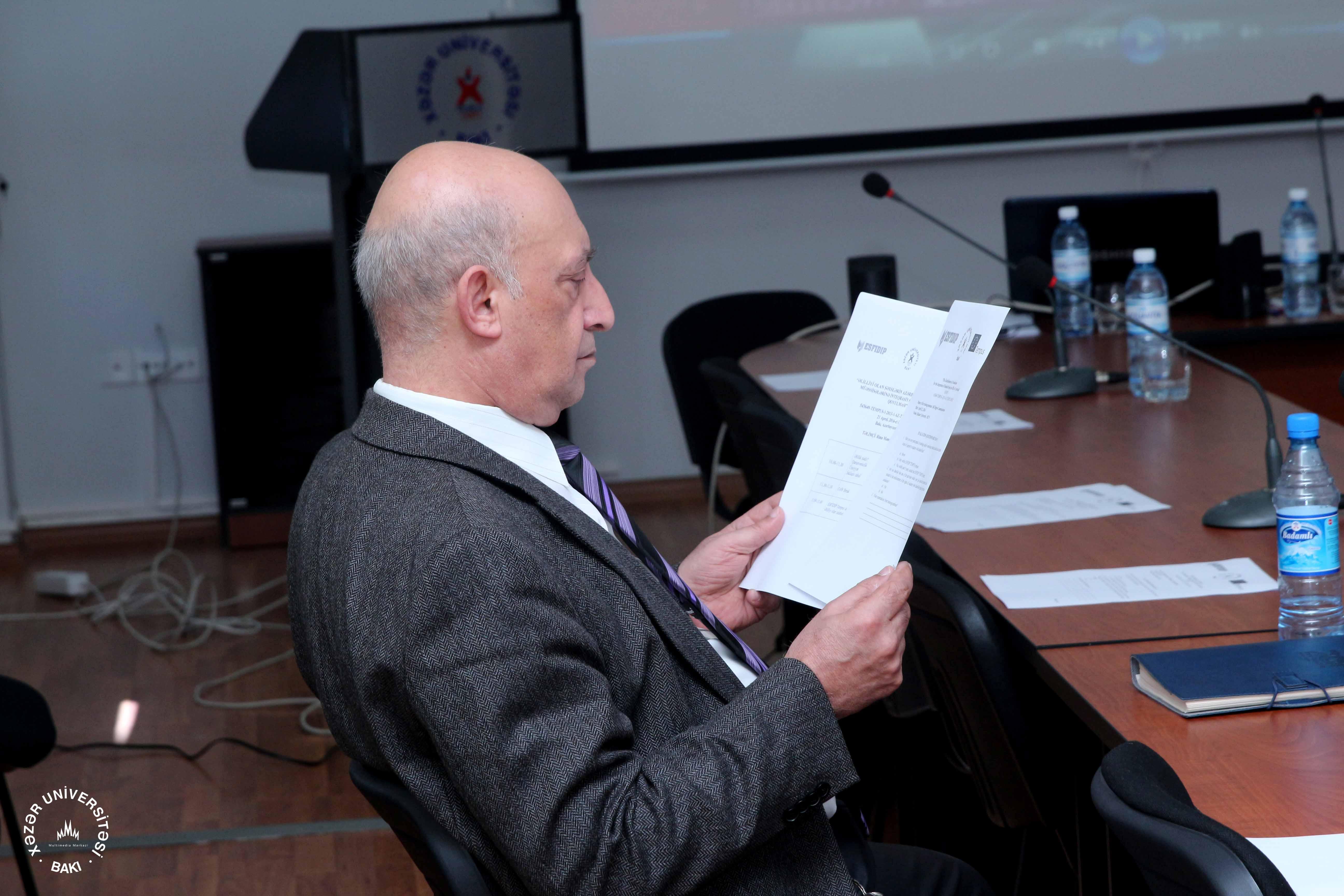Training Seminar for Khazar University Staff Members