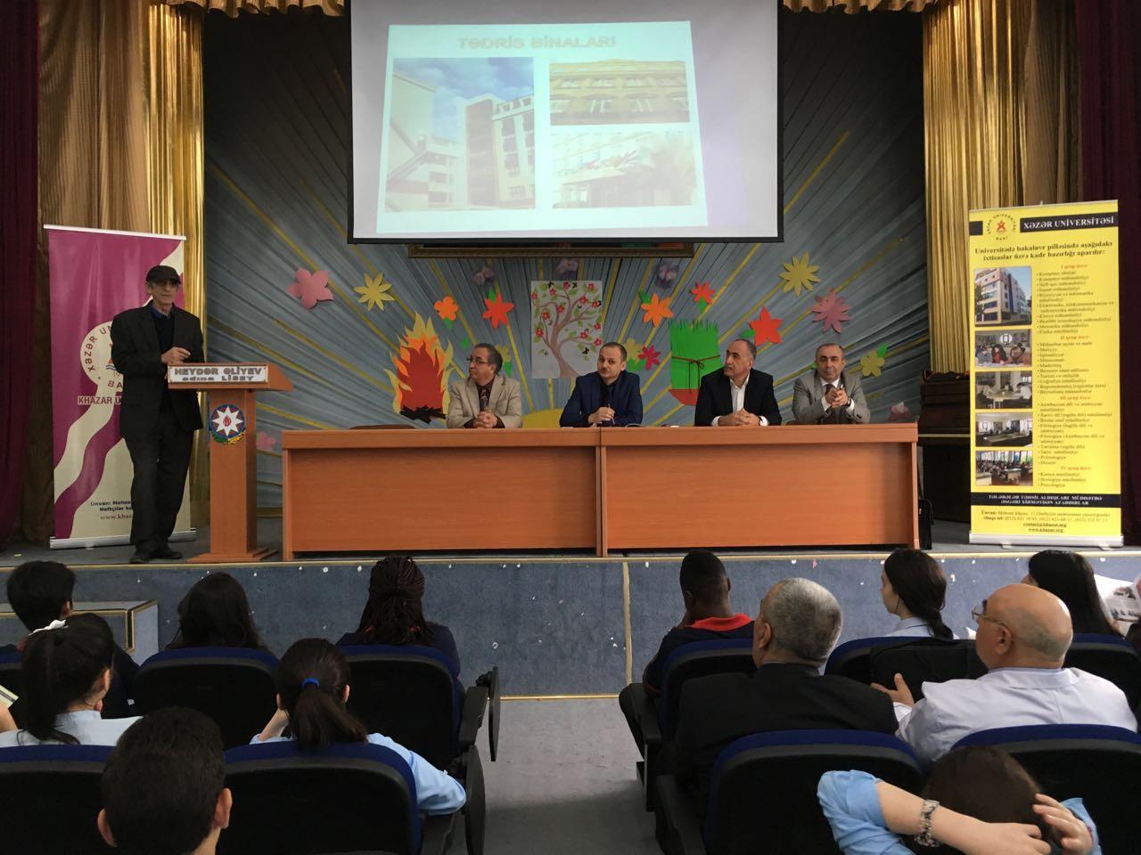 Meeting in Heydar Aliyev Lyceum