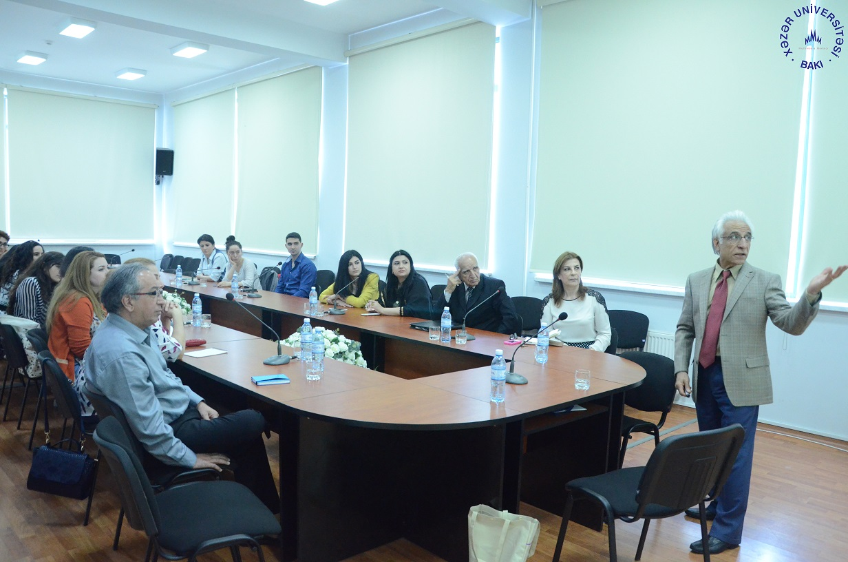 American Professor Gives Lecture at Khazar University