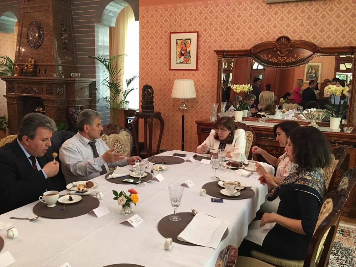 International Affairs Office Staff at Reception for University Representatives organized by Ambassador of India