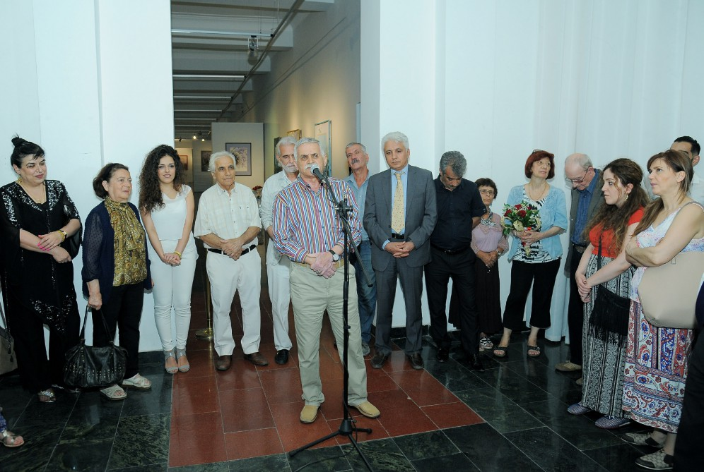 Faculty Members and Students at Young Artist's Exhibition