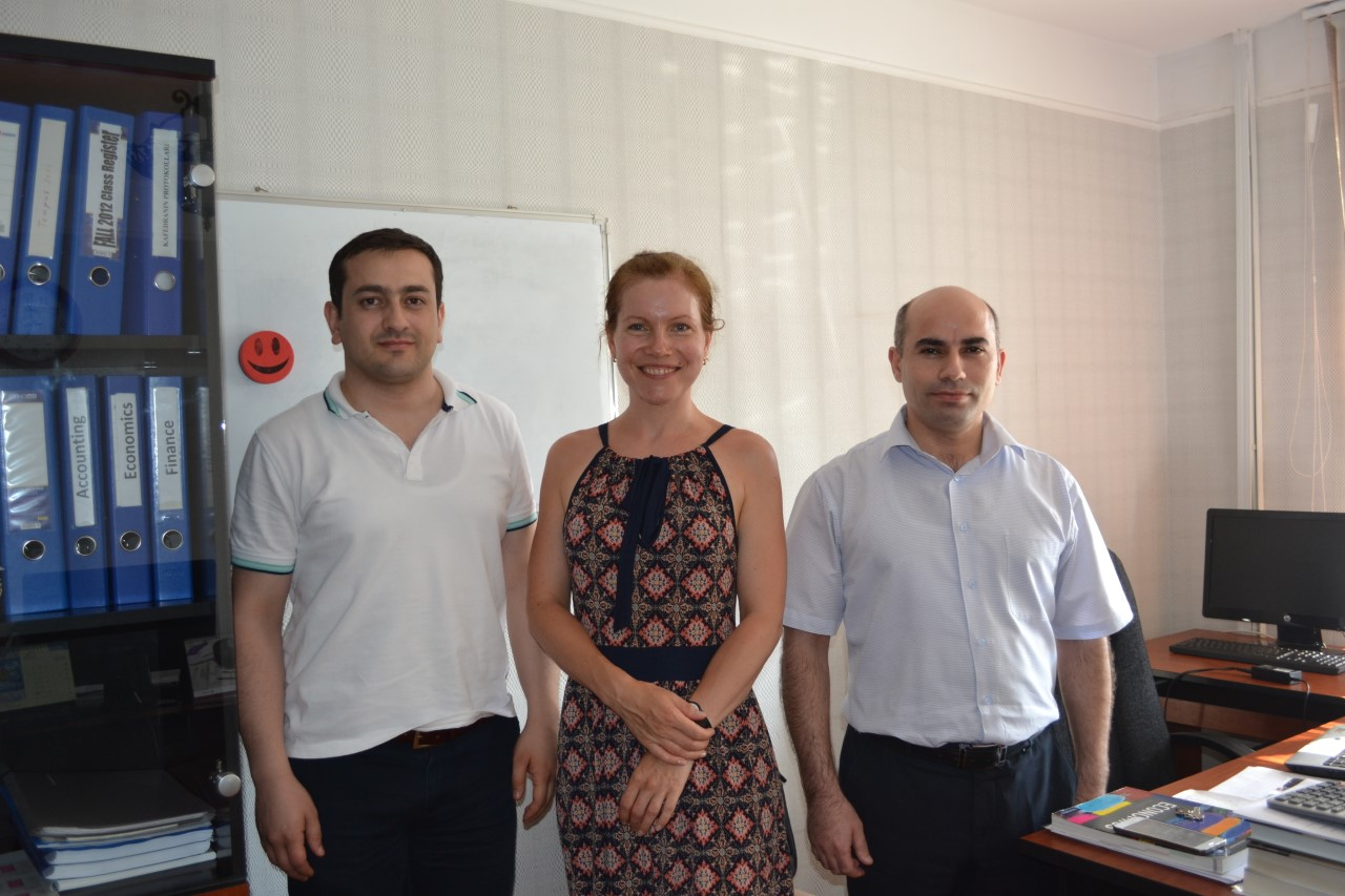 Visiting Instructor from Estonia Completes Mobility at Khazar University within EMBER project