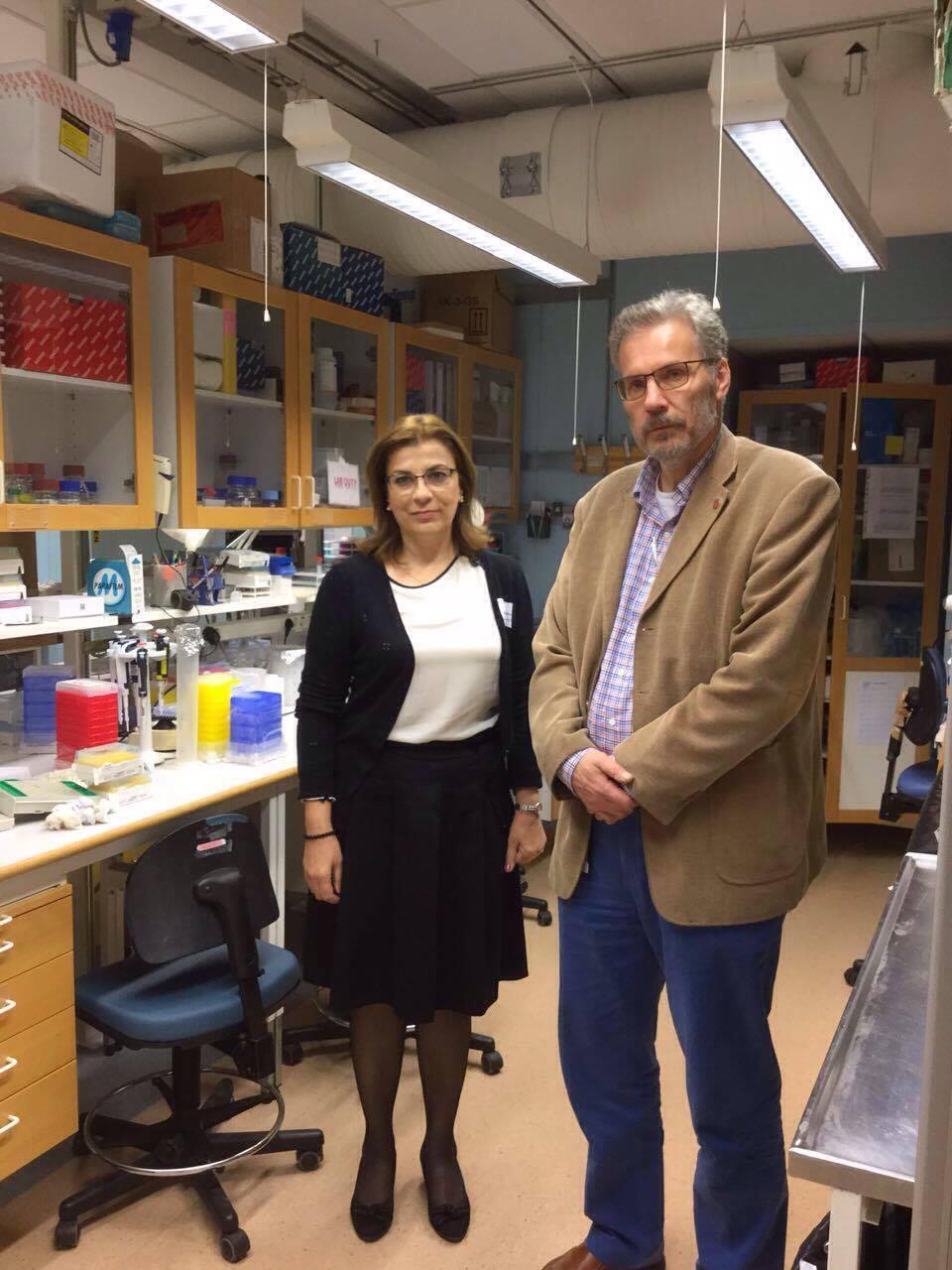 Head of Biological Sciences Department Visits Uppsala University in Sweden