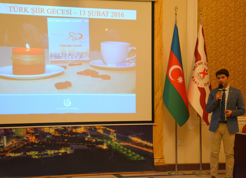 Yunus Emre Institute Meeting with Khazar Students
