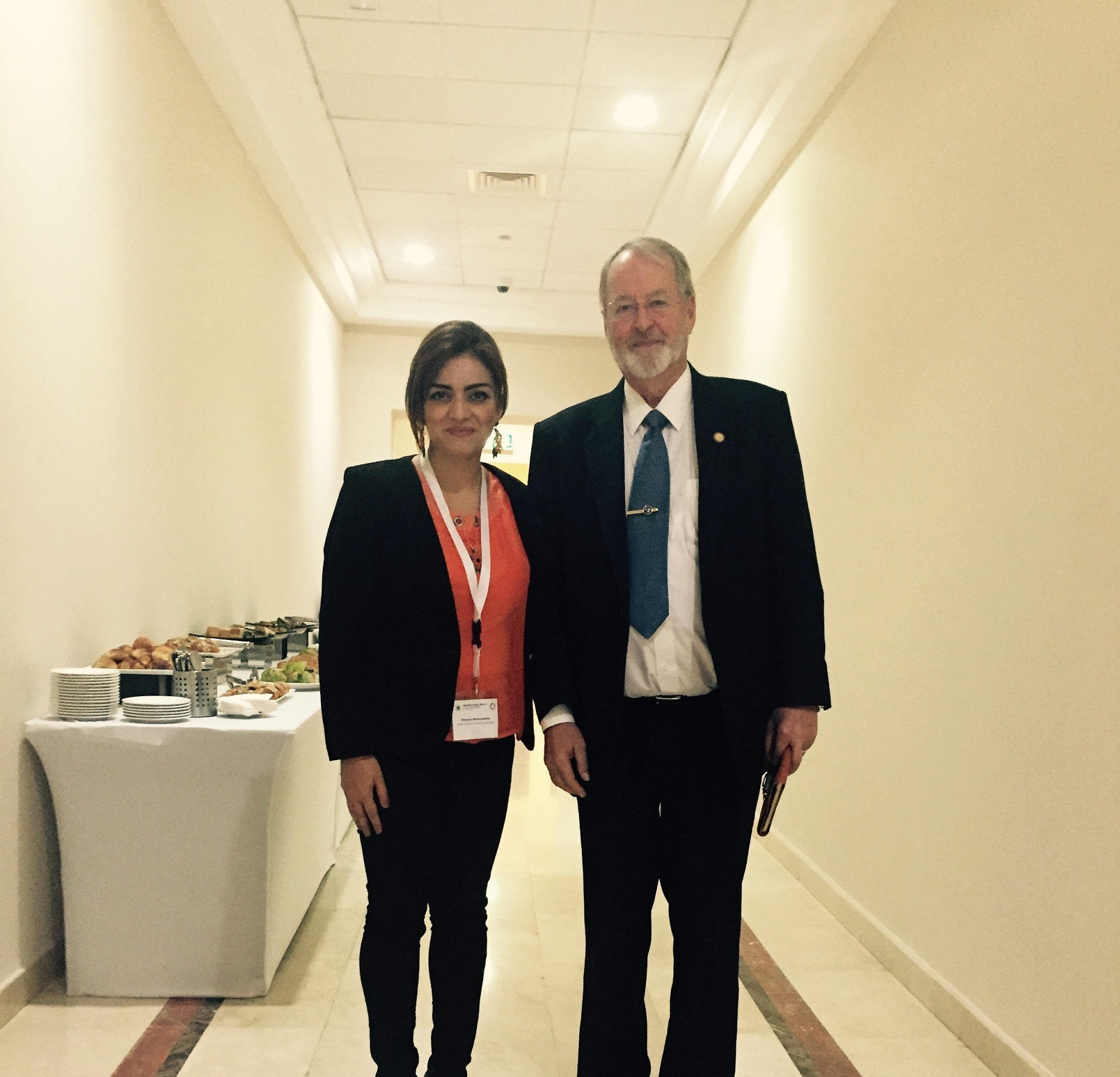 Khazar University Staff Member at International Event