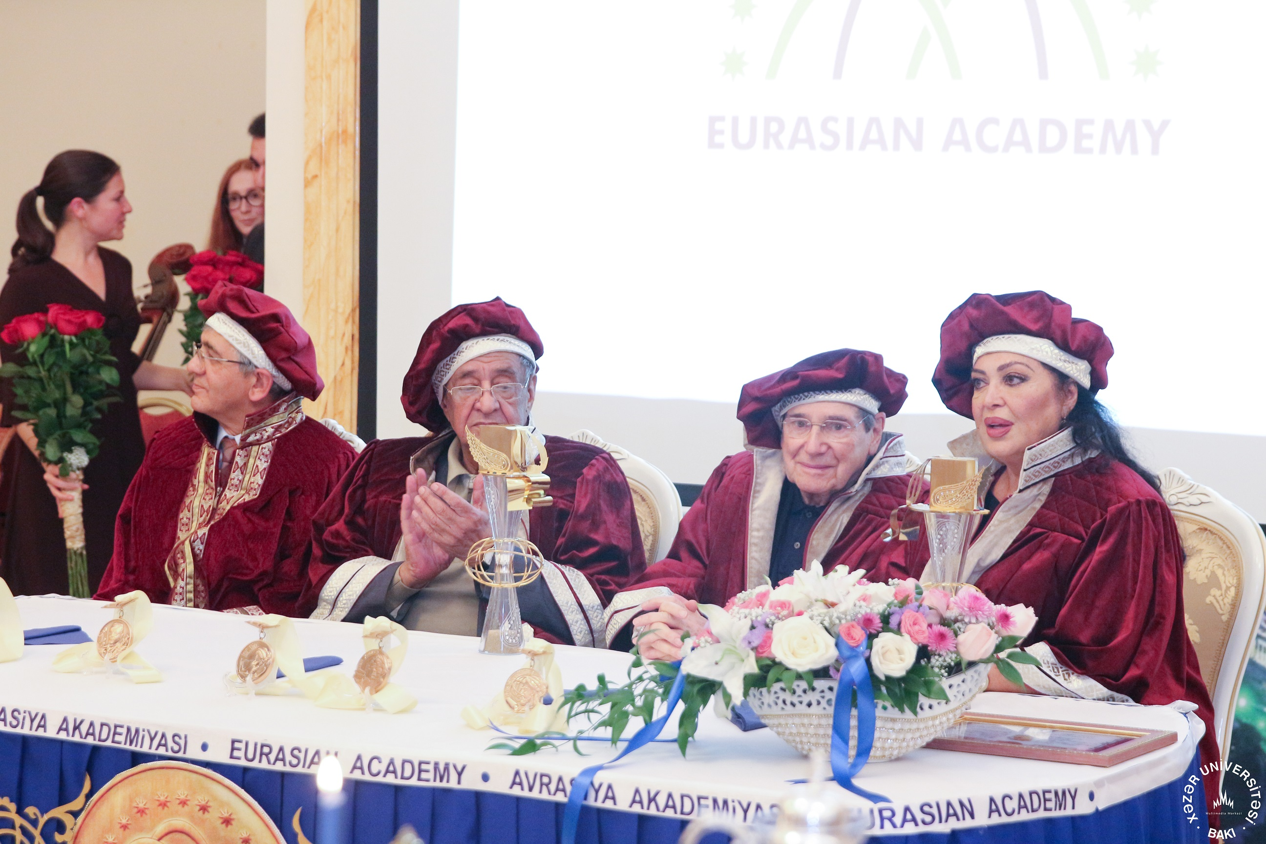 The ceremony was broadcast live on Khazar University's internet television and was reported broadly by Azerbaijani and Turkish media.