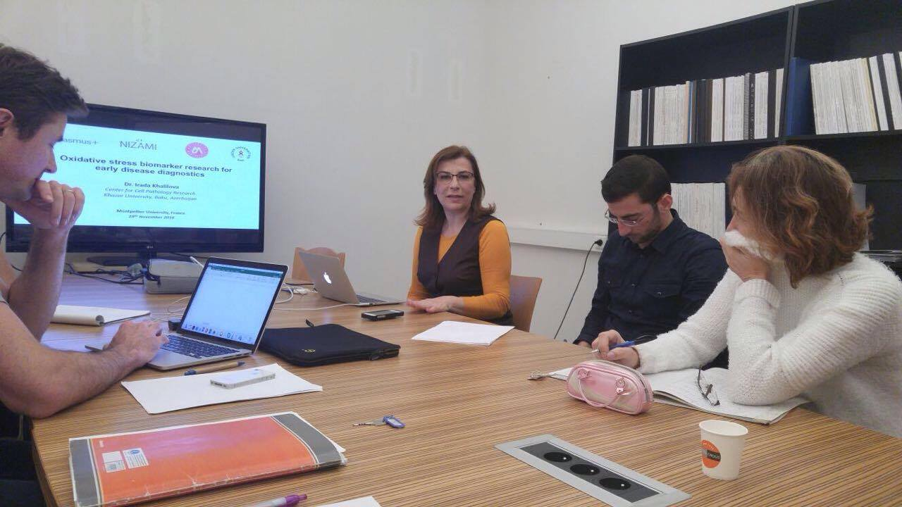 Khazar Faculty Member Performs Research at Montpellier University