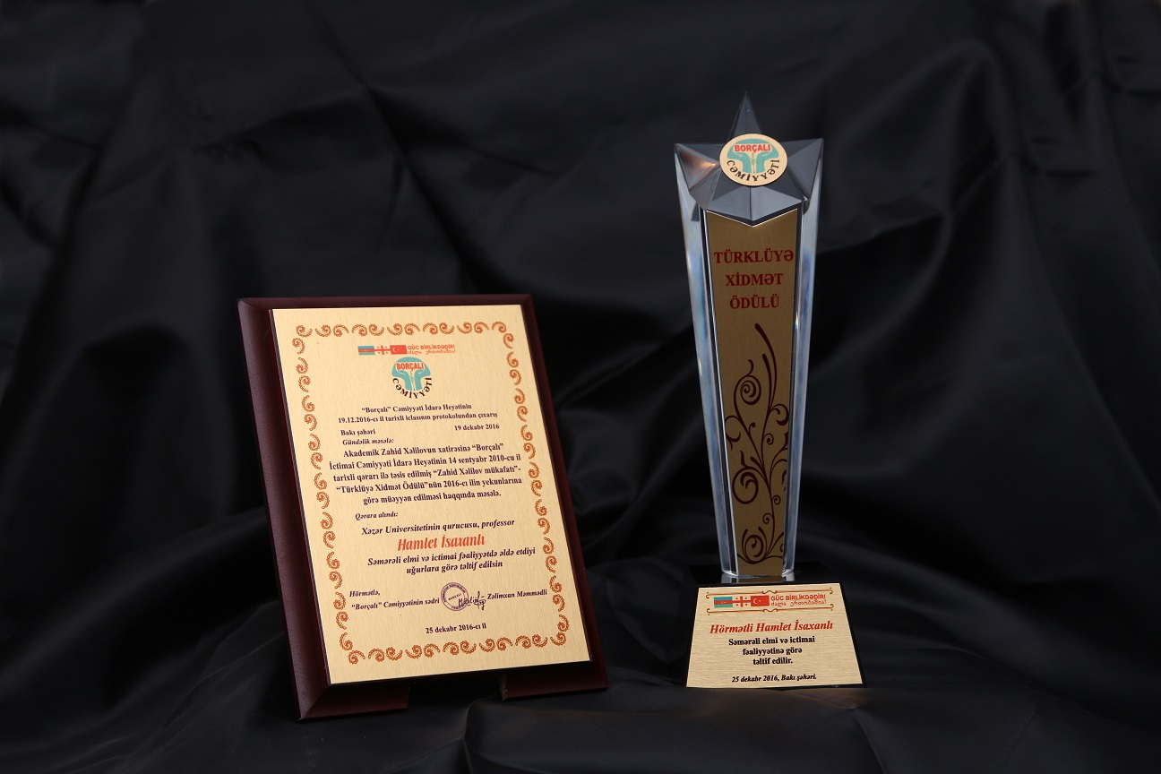 """Founder Earns """"Service to Turkishness"""" Award"""