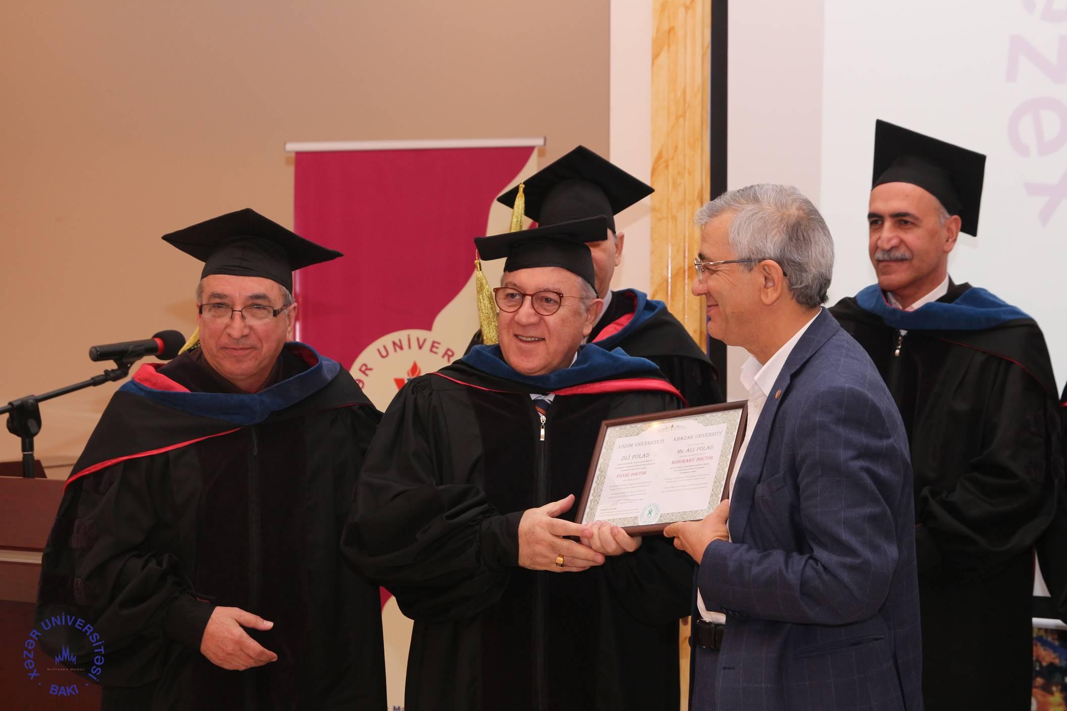 Ali Polad Awarded Honorary Doctorate from Khazar University
