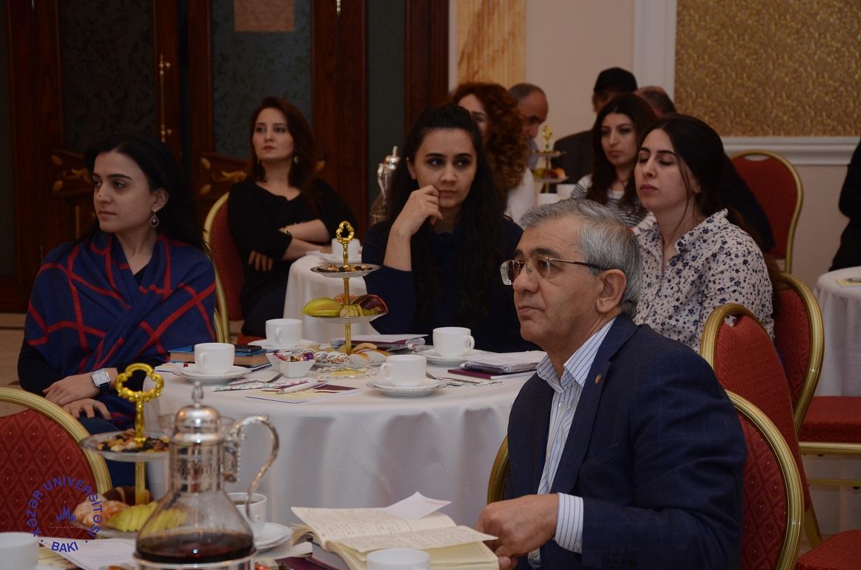 Press Conference held at Khazar University