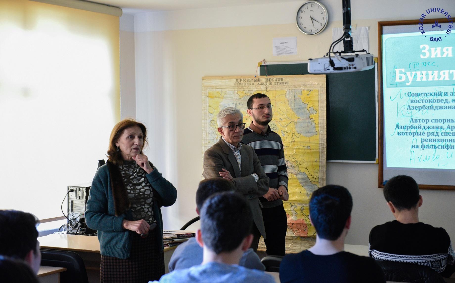 Akademik Ziya Bünyadova həsr olunmuş açıq dərs