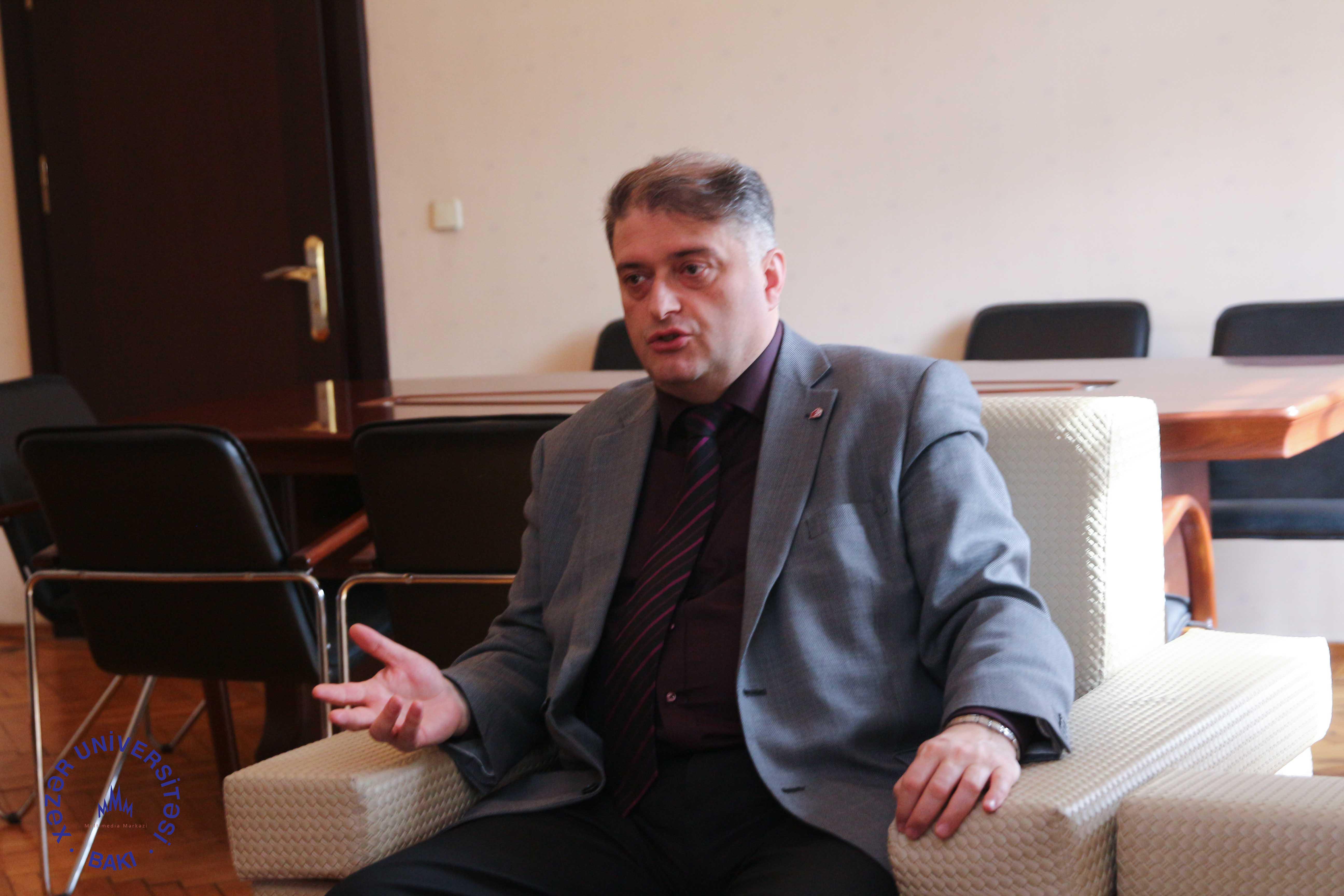 Rector of Akaki Tsereteli State University (Georgia) Visits Khazar