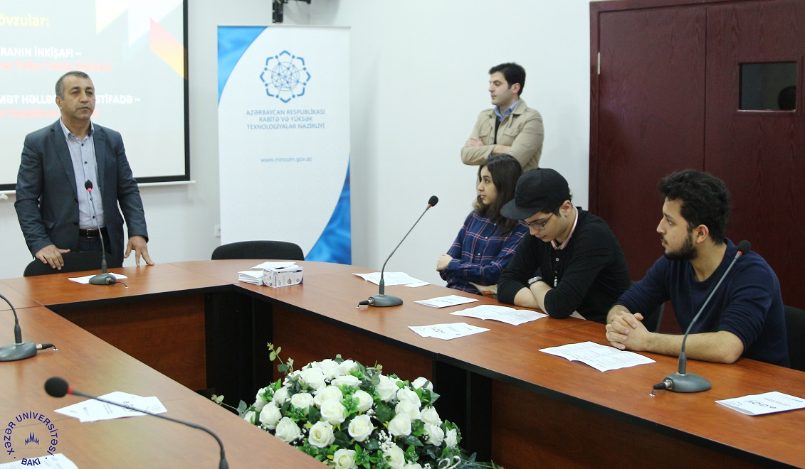 Representatives of Ministry of Transport, Communications and High Technologies visit Khazar University