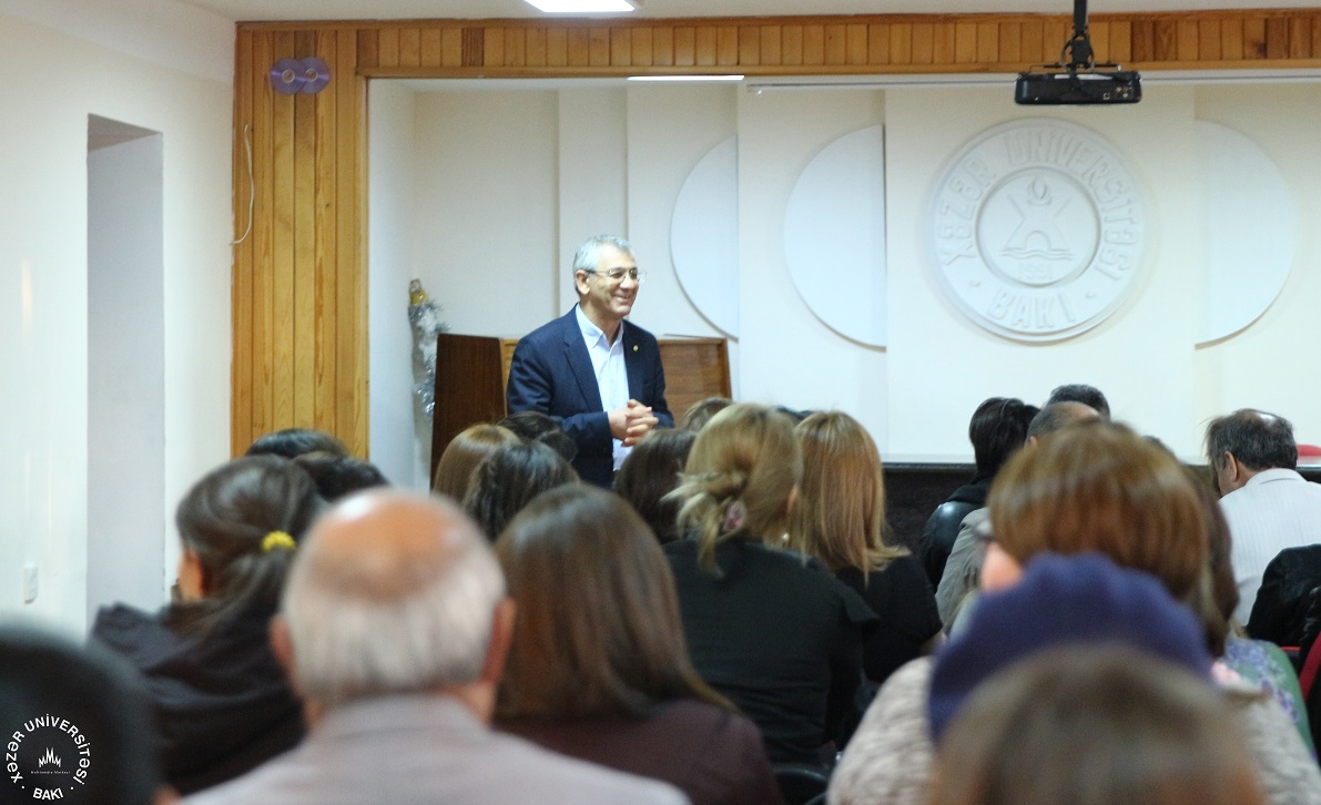 "Prof. Hamlet Isakhanli in the ""Seminars of Guest Lecturers"""