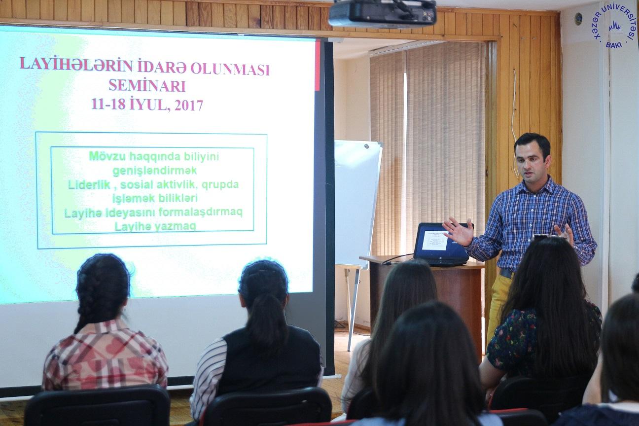"""""""Time for Development"""" Training Held at Khazar University"""