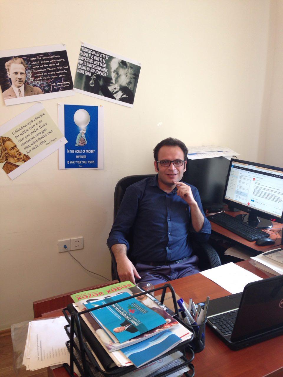 Dr. Rasoul Moradinin beynəlxalq jurnalda məqaləsi çap olundu