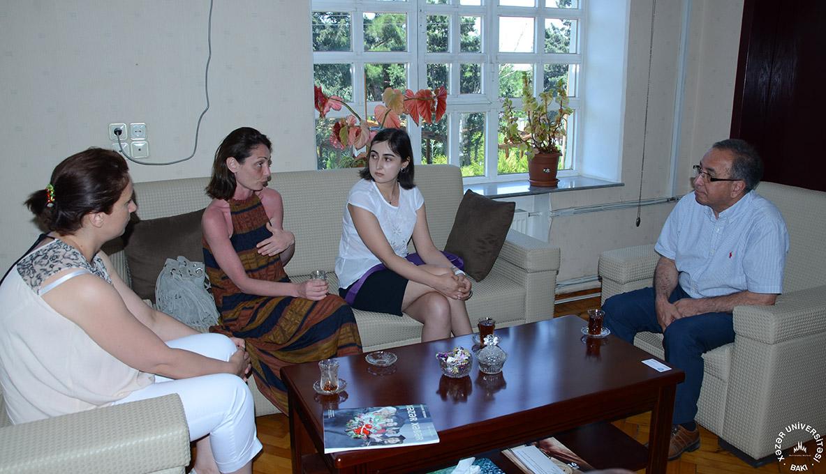 """Erasmus Plus """"PROMİG"""" layihəsi koordinatoru ilə görüş keçirildi"""