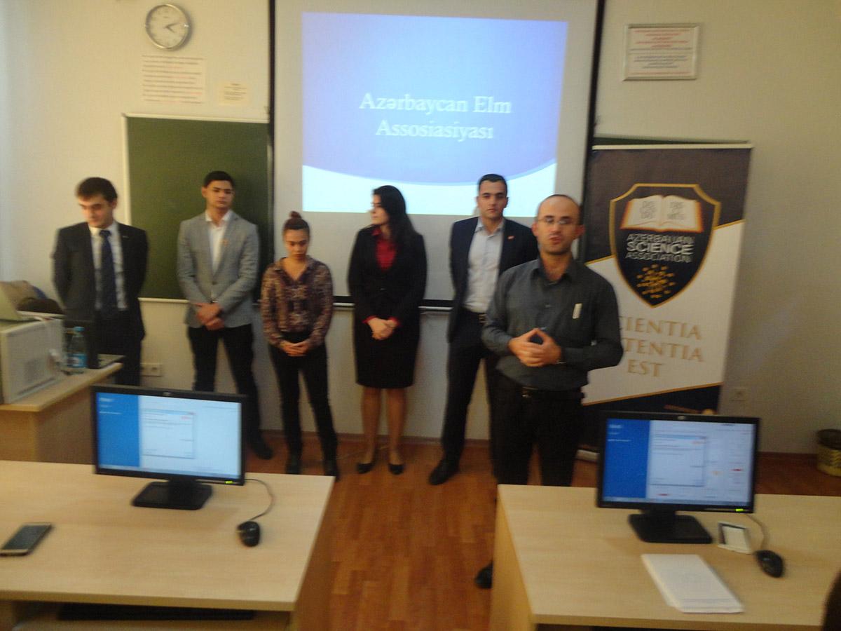 Doktorantura və Magistratura Birliyi Azərbaycan Elm Assosiasiyasının nümayəndələri ilə görüşdü