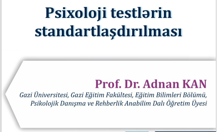 """A seminar on """"Standardization of psychological tests"""" will be held"""