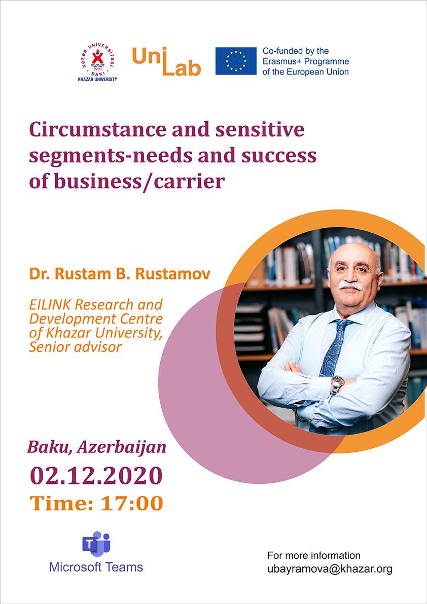 A virtual seminar by Dr. Rustam B. Rustamov