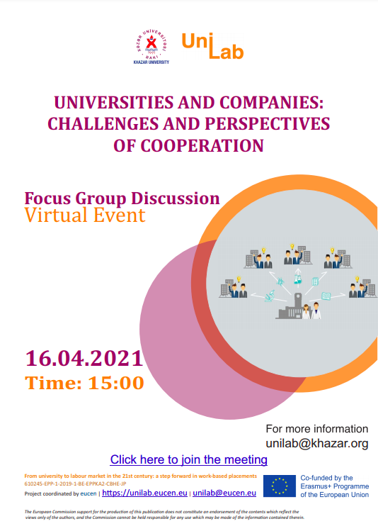 Next event entitled Focus Group Discussion to be held within UniLab Project