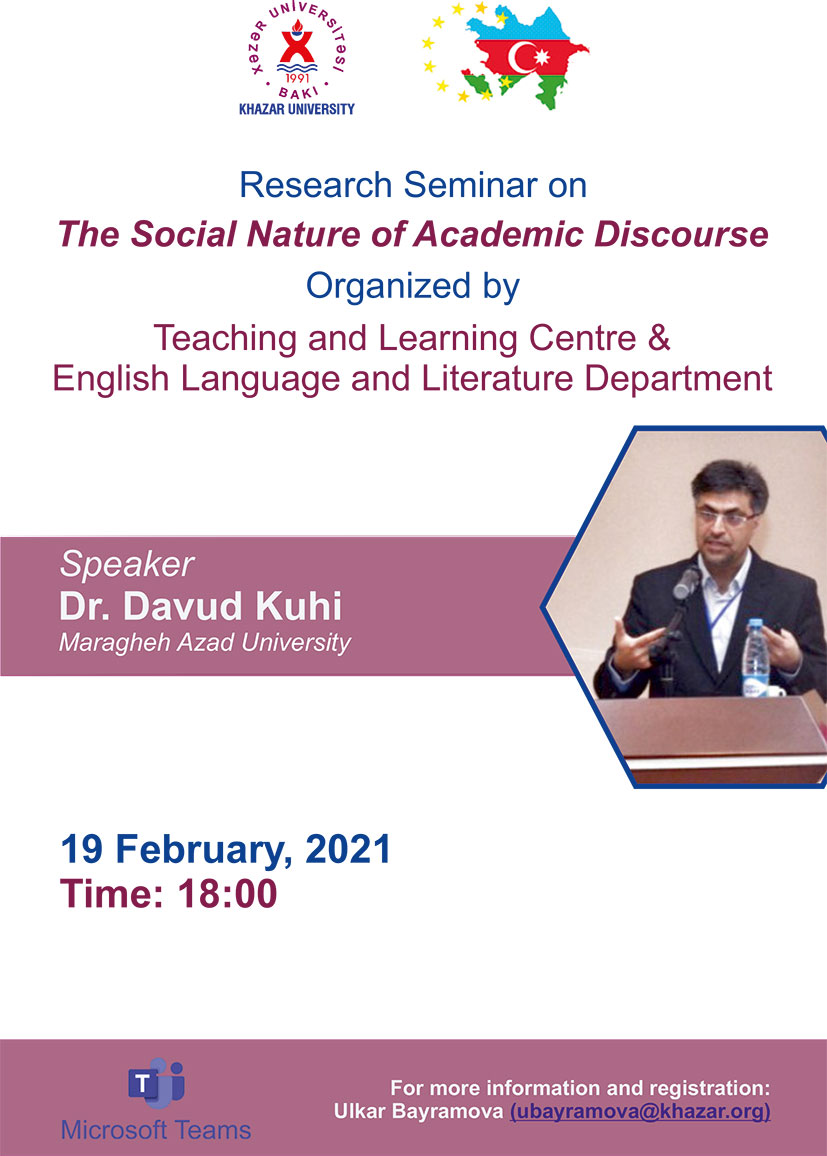 Research Seminar on The Social Nature of Academic Discourse to be held