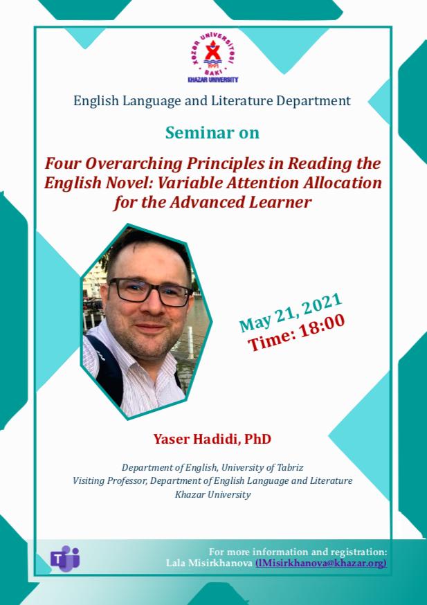 English Language and Literature Department holds a virtual seminar
