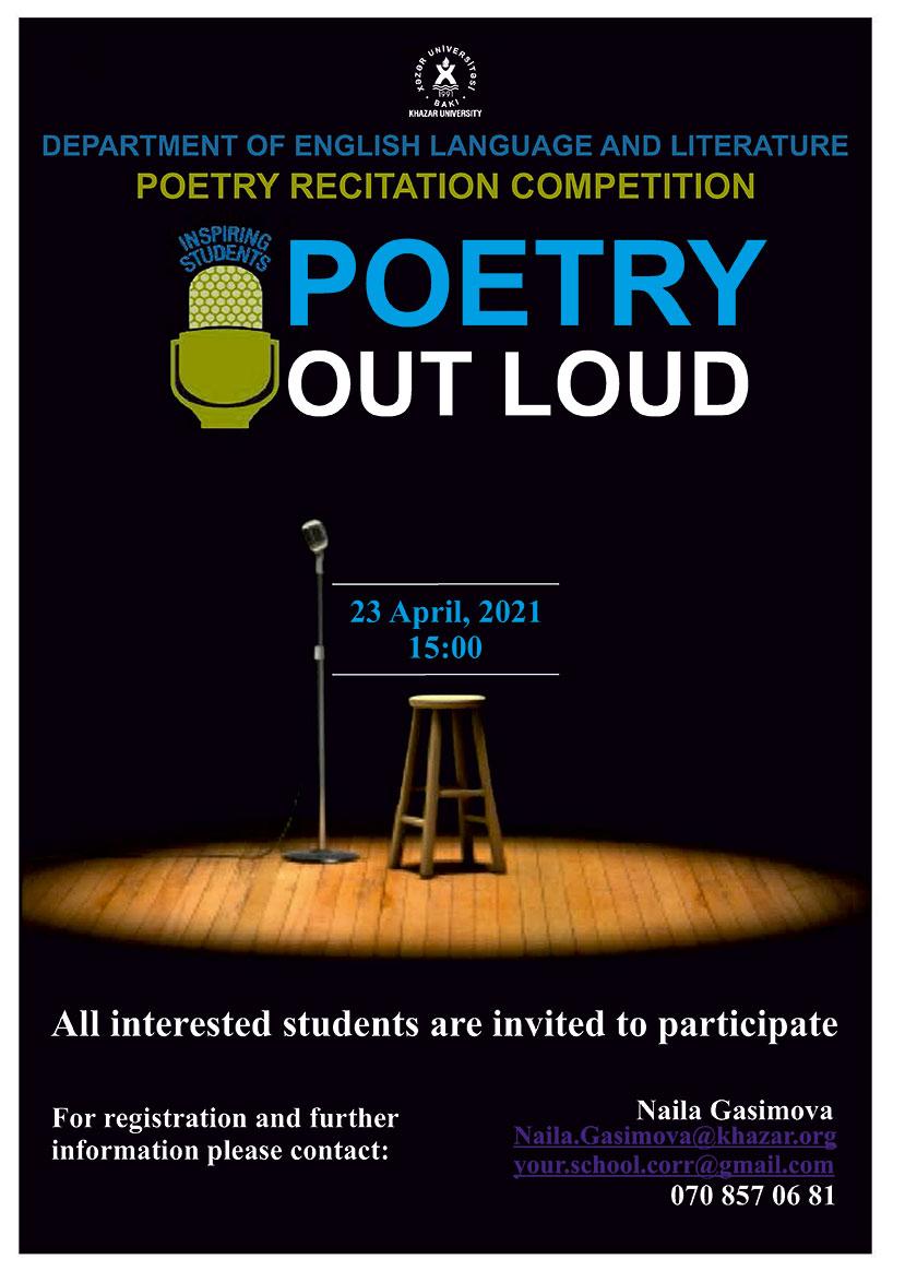 Poetry Recitation Contest Announced