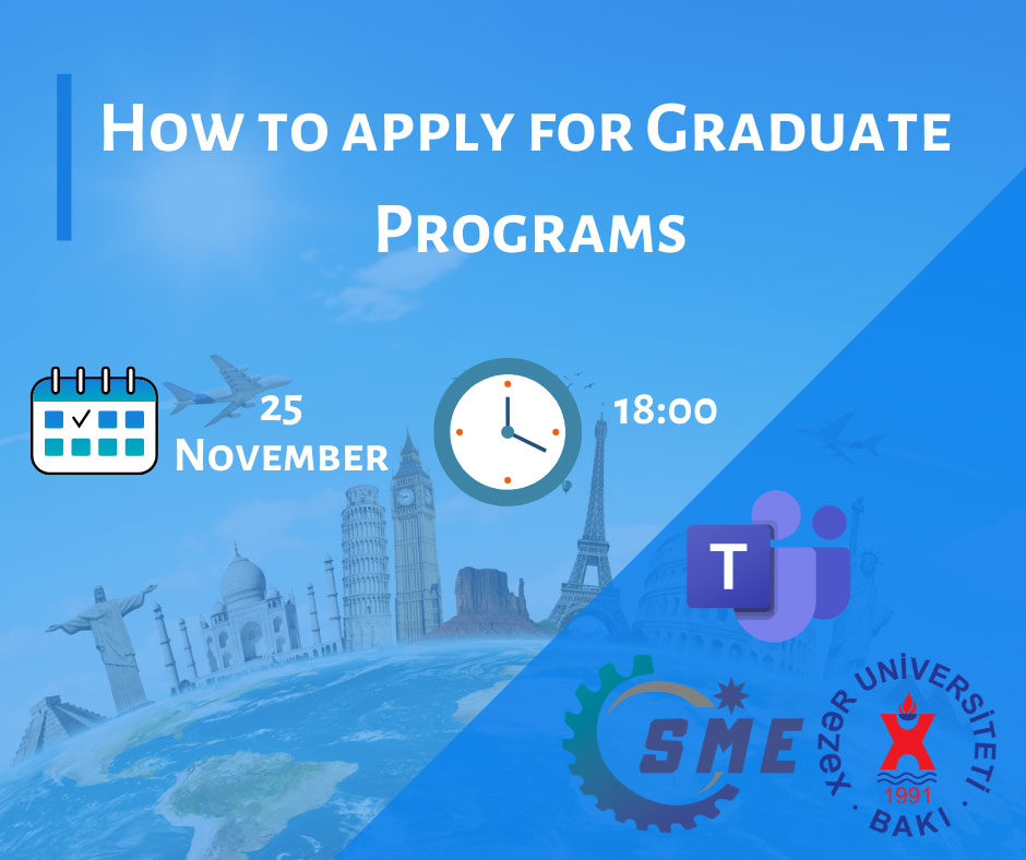 """Webinar about """"How to Apply for Graduate Programs"""""""
