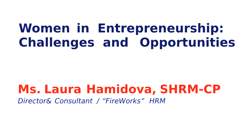 Creative Spark seminar on Women in Entrepreneurship: Challenges and Opportunities