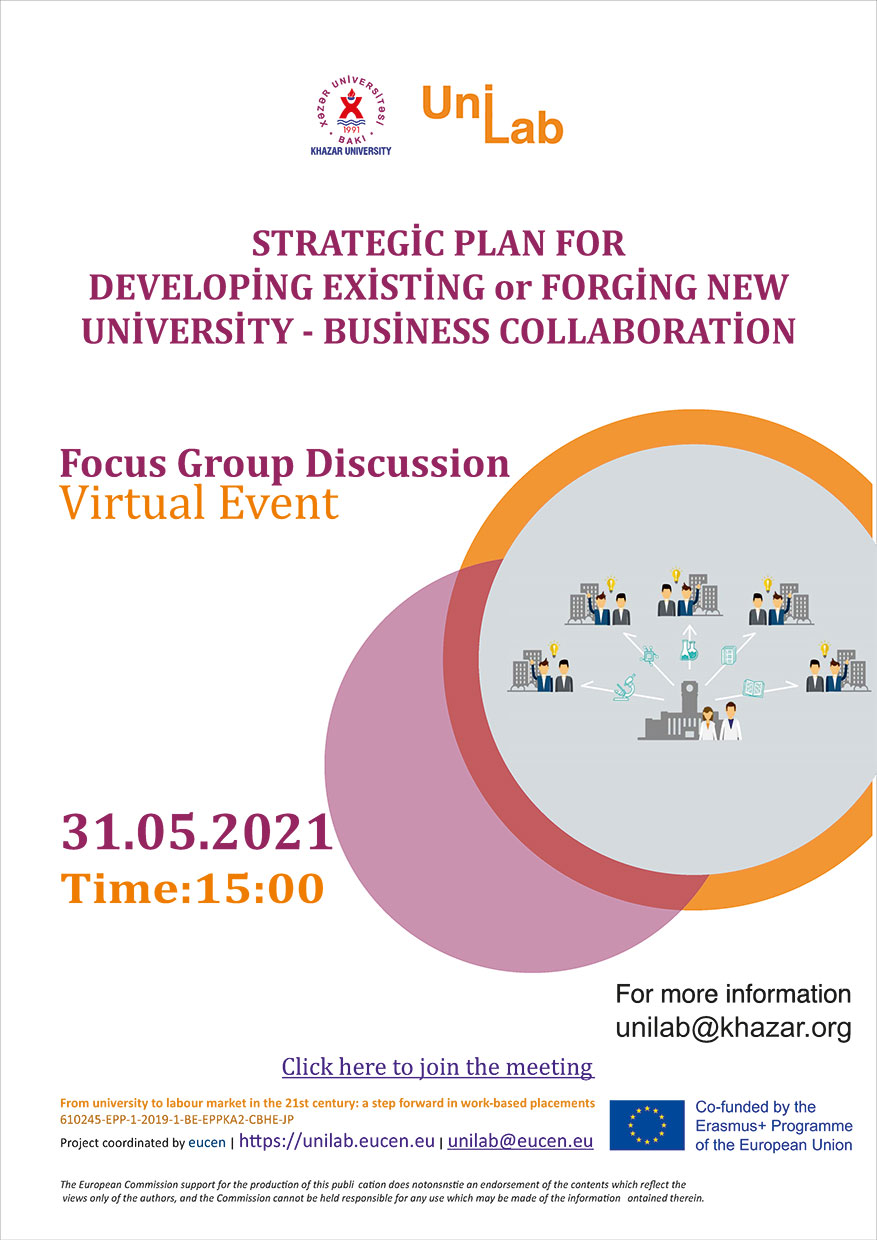 The next event entitled Focus Discussion Group to be held within UniLab project
