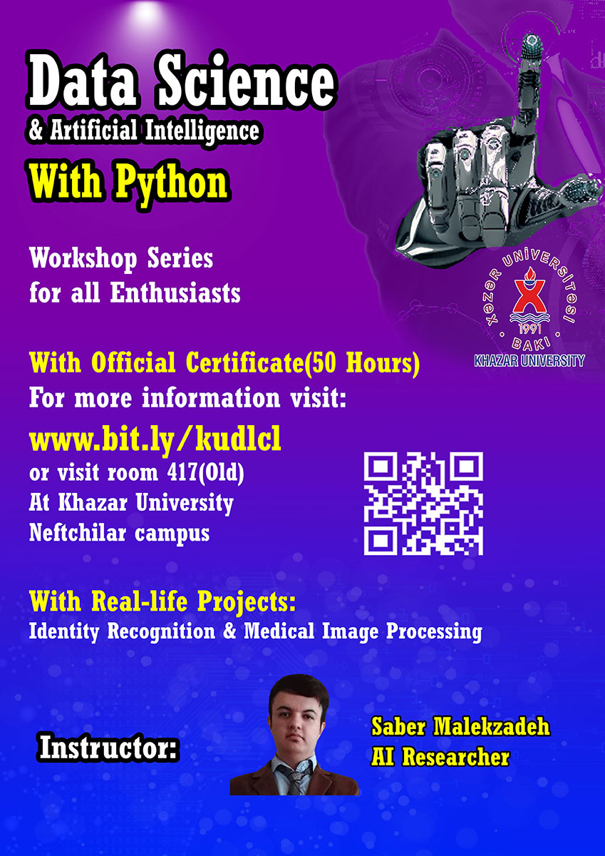 """Data Science with Python"" workshop series at Khazar University"