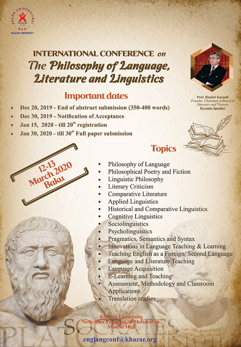 International Conference on the Philosophy of Language, Literature and Linguistics