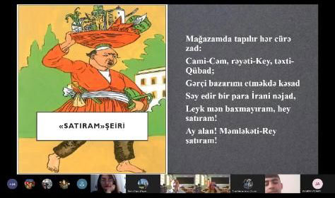 "Integrative lesson on ""The Mirza Alakbar Sabir phase in Azerbaijani poetry"""