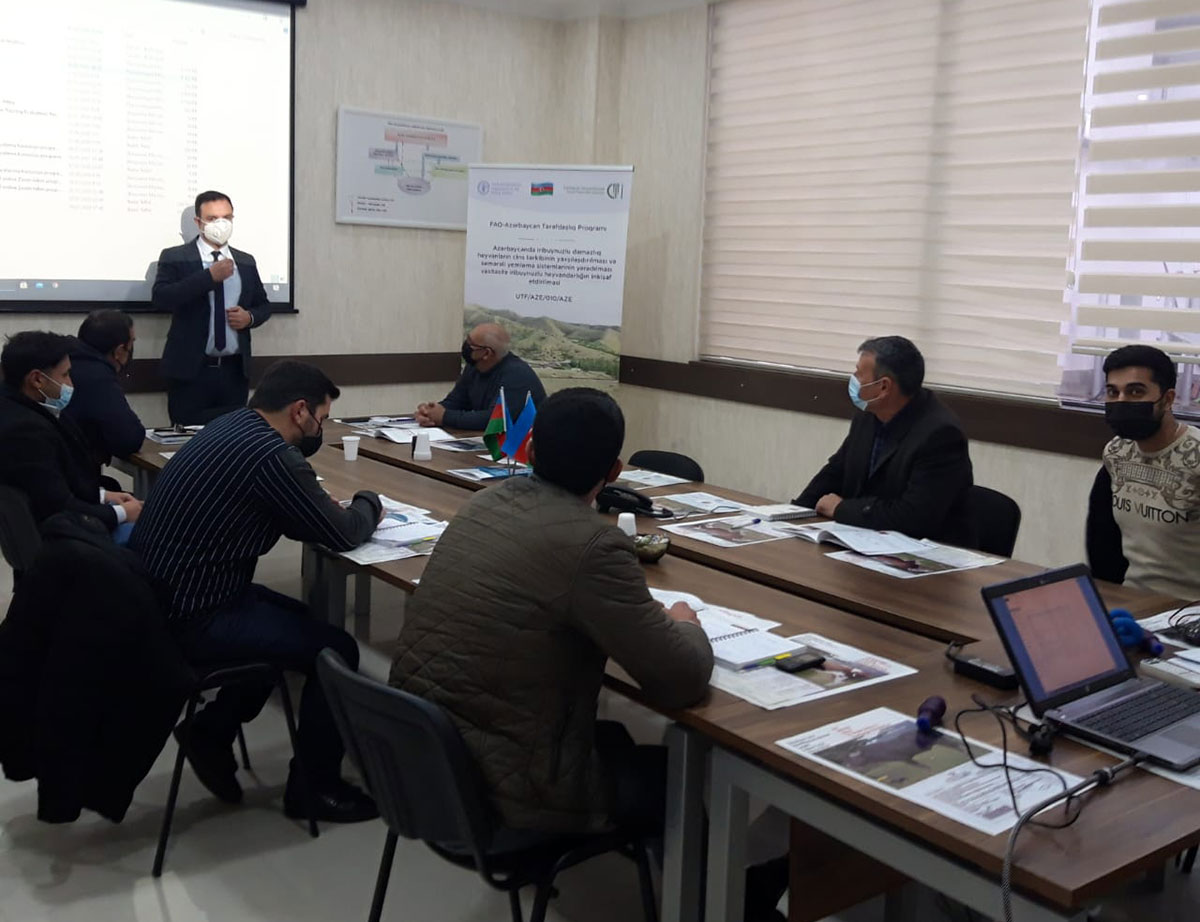 Head of Department of Life Sciences Asaf Omarov as a trainer in UN's Project