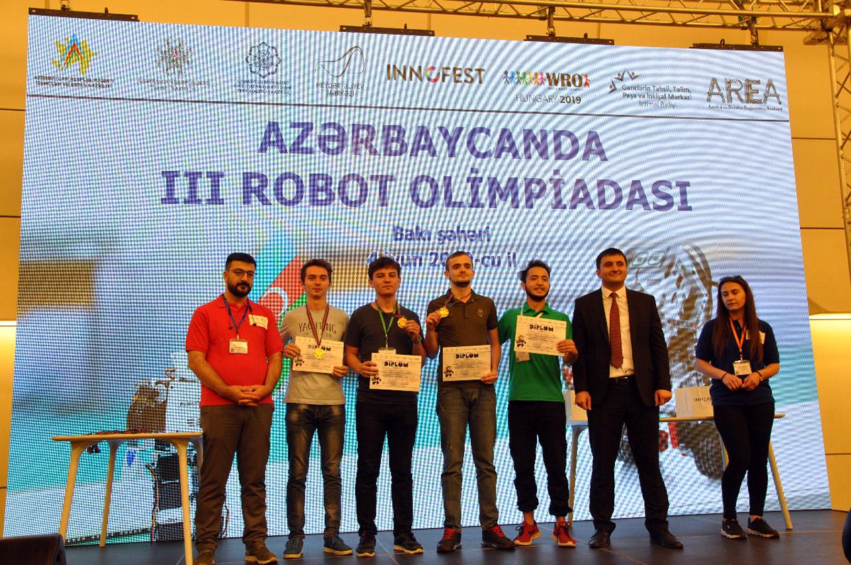 Khazar University Team is Among Winners of III Robotics Olympiad