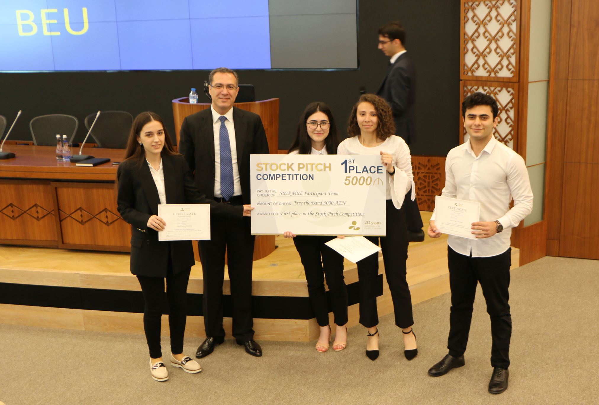 "Students of the School of Economics and Management Took Third Place in ""Stock Pitch"" Competition Held Among Country's Hight School Students"