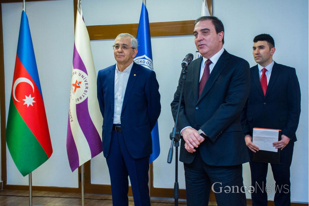 """Yeni Ganja"" News Portal on the Opening of Ganja ""Dunya"" School"