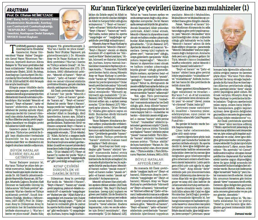 """""""Xəzər Xəbər""""in əməkdaşının kitabçasından icmal """"Anadolu"""" qəzetində"""