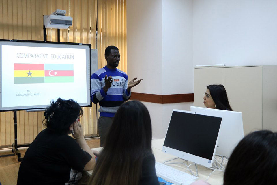 Khazar University Student Delivered Lecture at Azerbaijan University