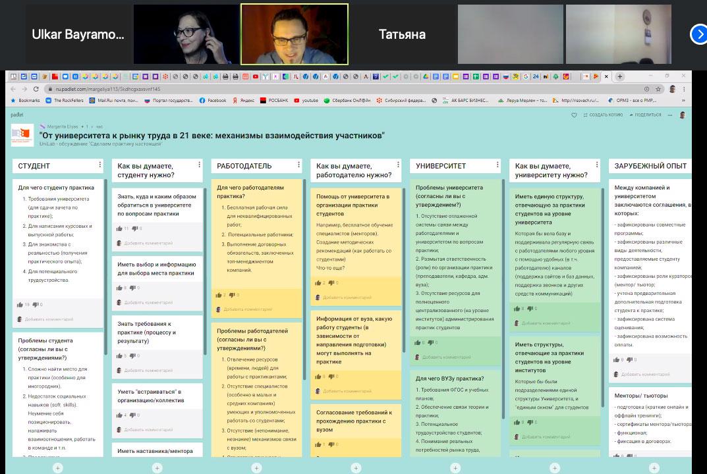 UniLab layihəsi çərçivəsində Sibir Federal Universitetinin Fokus Müzakirə Qrupu formatında virtual konfrans