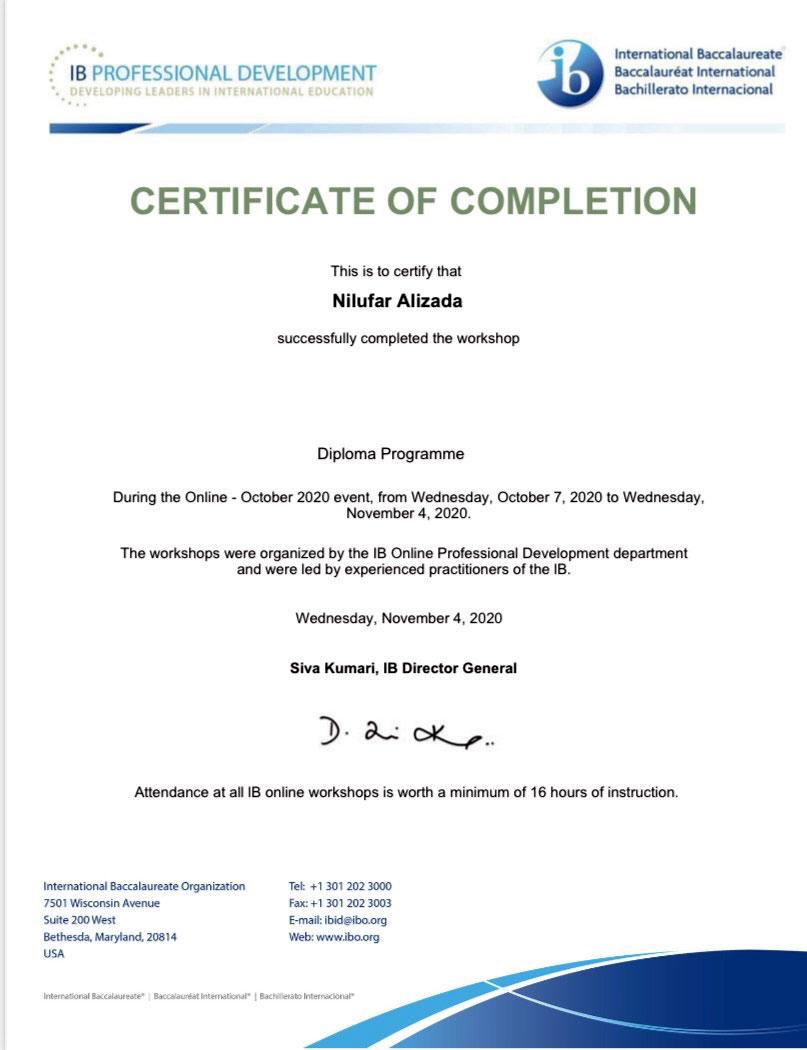Khazar University lecturer has been awarded international certificate