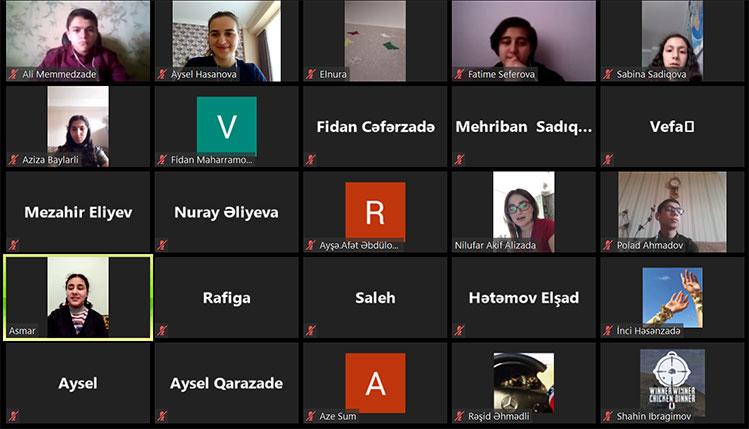 Khazar University's Teacher Held Virtual Meeting with Students