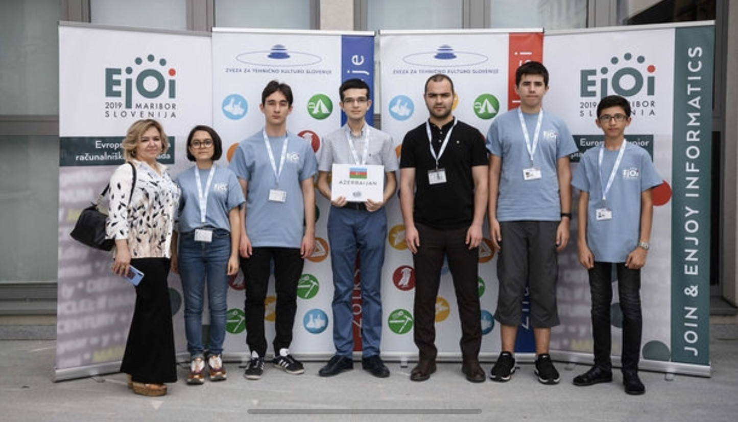 "Country's Media Reports on ""Dunya"" School Student - Aziz Huseynov's Winning Silver Medal at European Olympiad in Informatics"