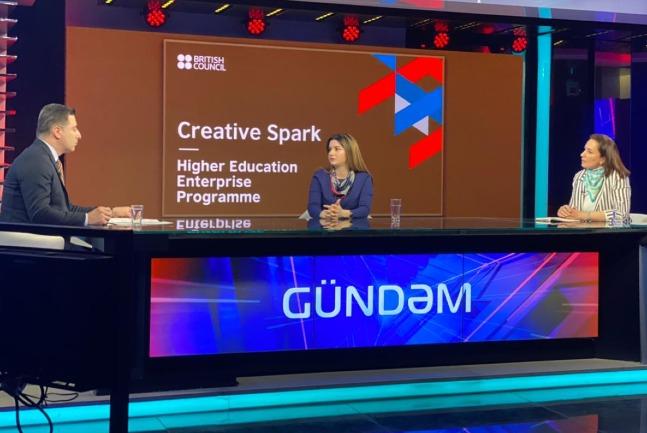 "Khazar staff member on ""Gundem"" program broadcasted on ARB TV channel"